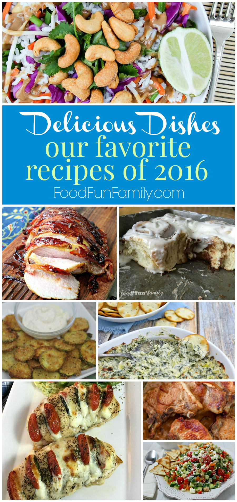 Our Favorite Recipes of 2016 from the Delicious Dishes hosts, from salads to main dishes to desserts. Find the recipes at Food Fun Family