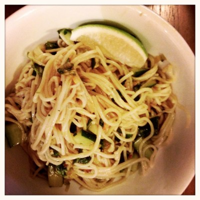 Sesame Soba Soy Scallion Noodles