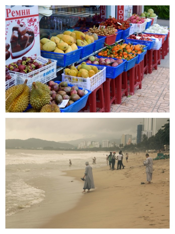 Fruit Stands & Beach in Nha Trang, Vietnam