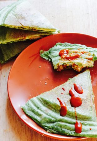 Easy Cheesy Vegan Tofu Quesadillas