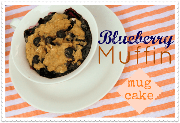 Blueberry Muffin Mug Cake