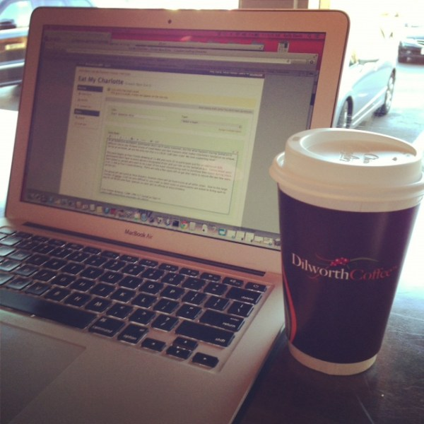 Working at Dilworth Coffee