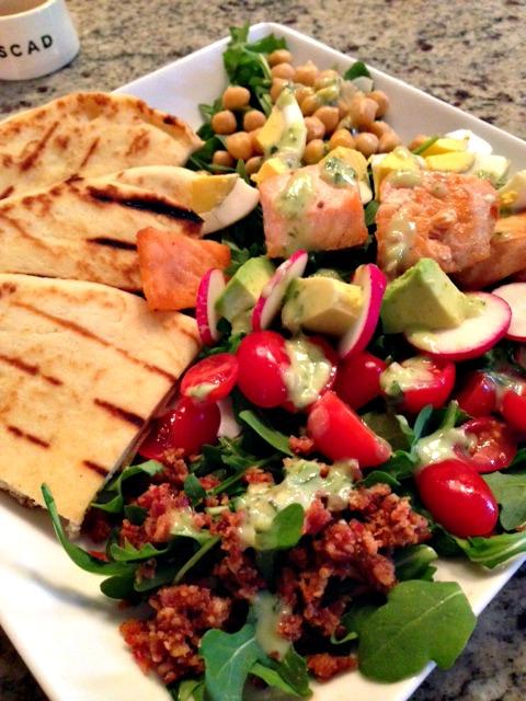 Salmon Cobb Salad at The Gryphon Tea Room
