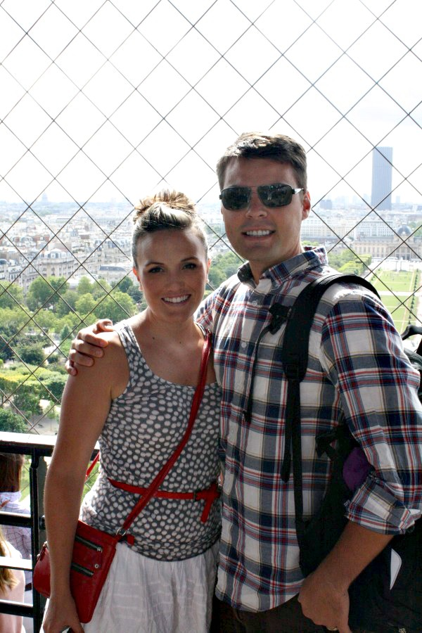 Brad and I at the Eiffel Tower