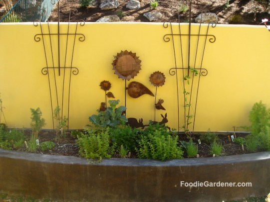 Small raised vegetable garden planter built in seating foodie gardener blog
