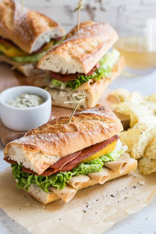 Medium Of Turkey Club Sandwich