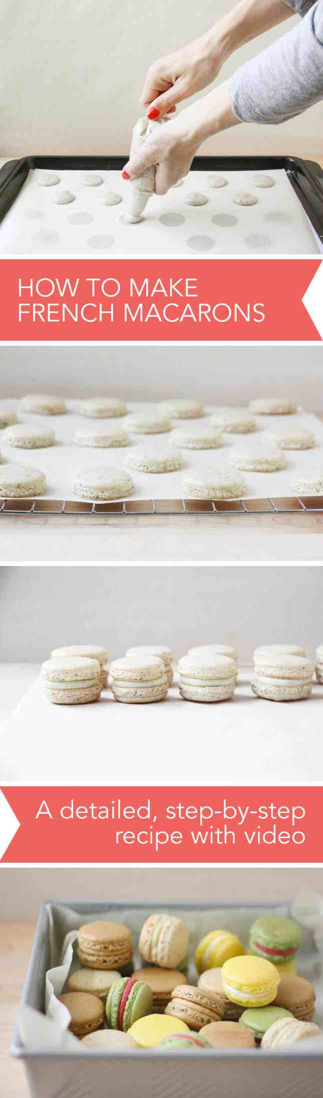 How to Make French Macarons, a Detailed, Step-by-Step Recipe with Video // FoodNouveau.com