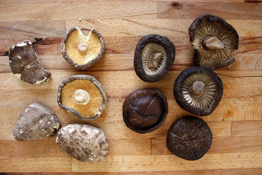 Dried Shiitake: Before/After