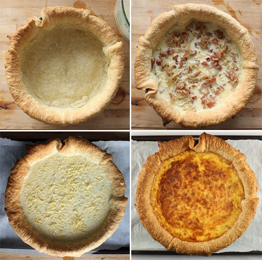 Making quiche lorraine: Assembling and baking in 4 steps