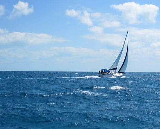 Sailing Through the Exumas, in the Bahamas.