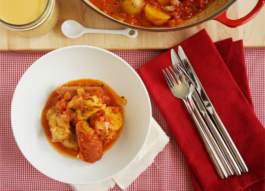 Jacques Ppin's Chicken Bouillabaisse