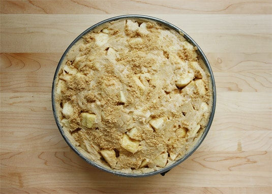 Brush the reserved egg wash all over the top of the pie, then sprinkle with a tablespoon or two [15 to 30 ml] of brown sugar.