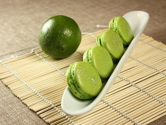 Lime &amp; Basil Macarons, inspired by Pierre Herm