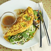 Vegetarian Vietnamese Pancakes: A fresh and bright vegetarian meal that will make you want to board the next flight to Viet-Nam.