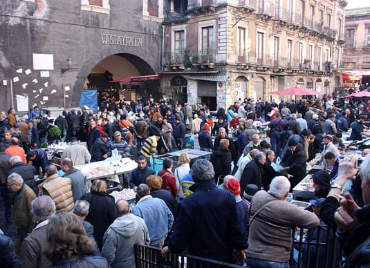 La Pescheria, fish market in Catania, Sicily