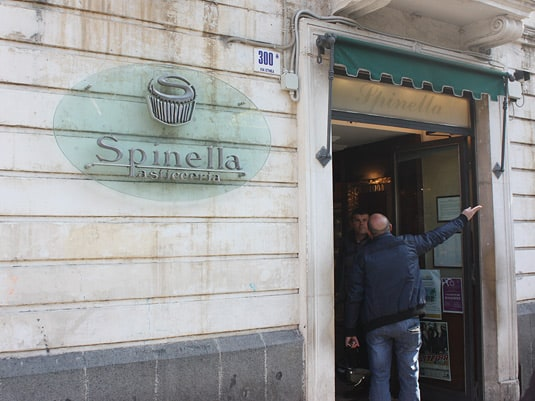 Right next door to Savia is Spinella, another pastry shop.
