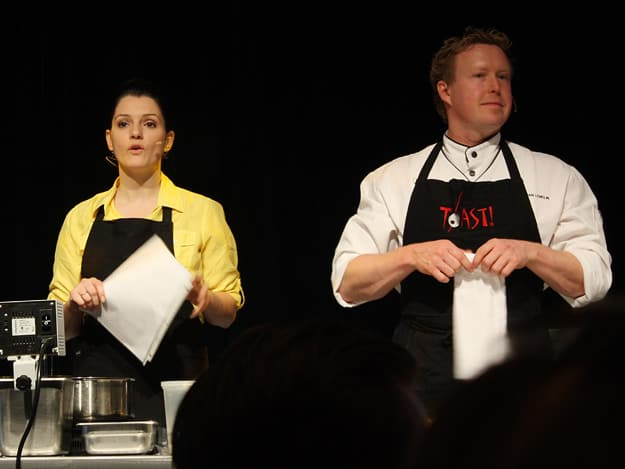 The FoodCamp's host, Chef Marjorie Maltais, and Chef Christian Lemelin.