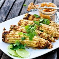 Grilled Corn with Chipotle Lime Butter &amp; Cilantro