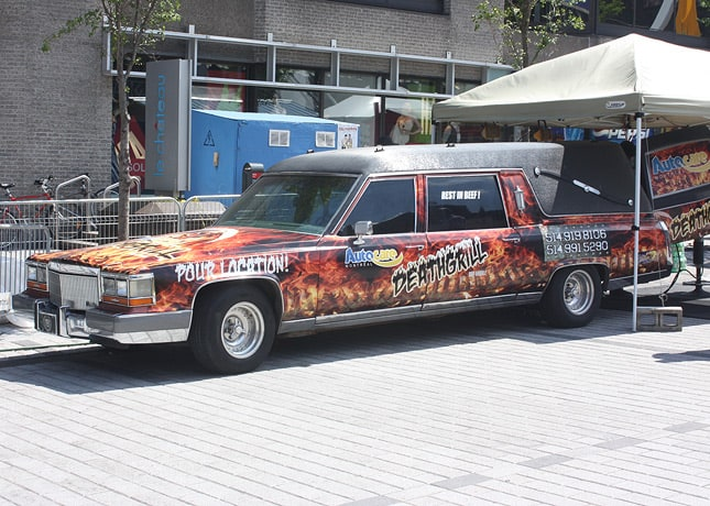 Probably the most photographed &quot;truck&quot; at the Souk: Death Grill, fitted in a hearse (!). / FoodNouveau.com
