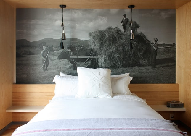 "Guest room at Hôtel La Ferme, a new ""destination hotel"" in Baie-St-Paul, Charlevoix, located 70 km east of Quebec City / FoodNouveau.com"