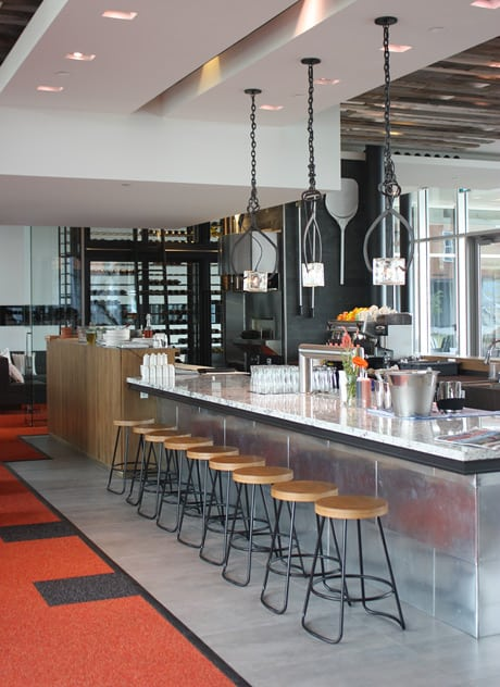 "The bar at Hôtel La Ferme, a new ""destination hotel"" in Baie-St-Paul, Charlevoix, located 70 km east of Quebec City / FoodNouveau.com"