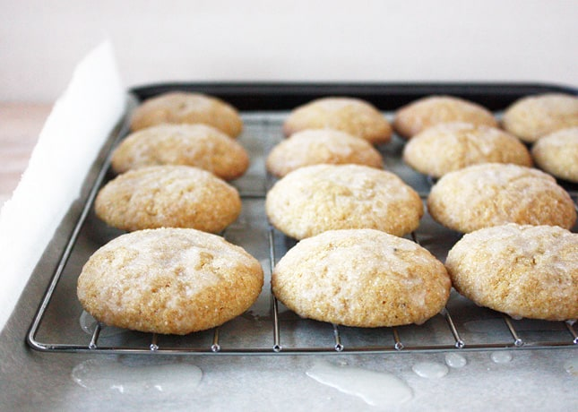 Molasses Cookies with Lemon Glaze // FoodNouveau.com