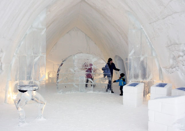 Ice Hotel, Quebec City: Inside // FoodNouveau.com