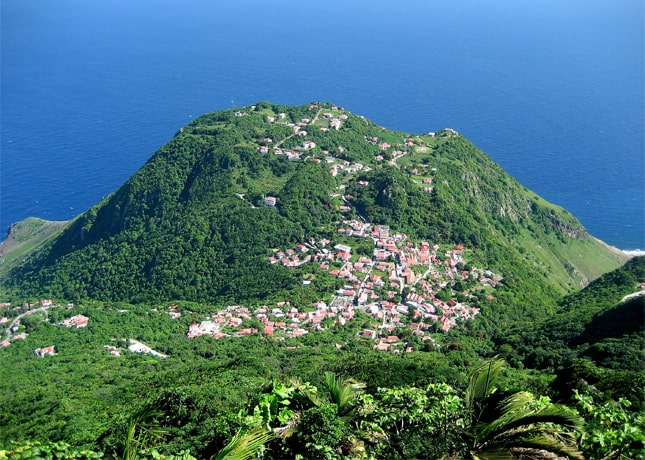 Saba, as seen from Mt. Scenery, photo by Radioflux // FoodNouveau.com