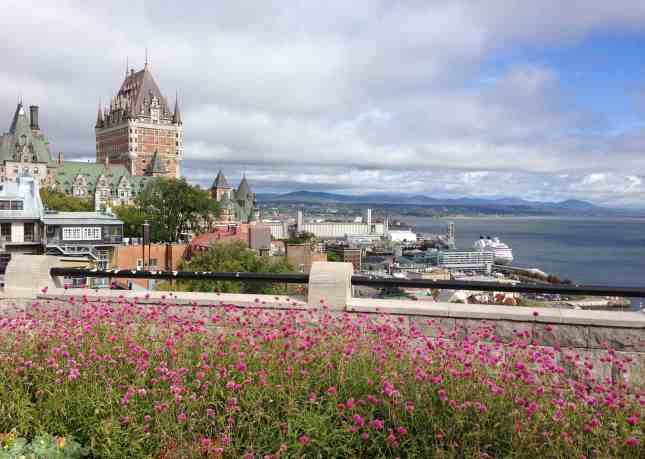The view from Terrasse Pierre-Dugua-de-Mons, my absolute favorite place in Quebec City // FoodNouveau.com