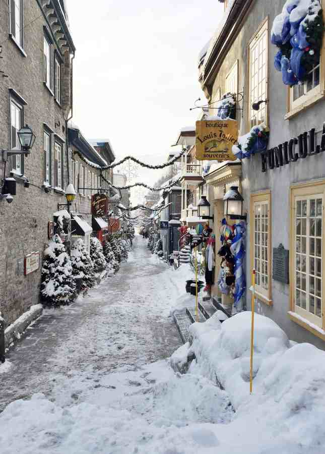 Rue du Petit Champlain, one of Quebec City's most atmospheric streets // FoodNouveau.com