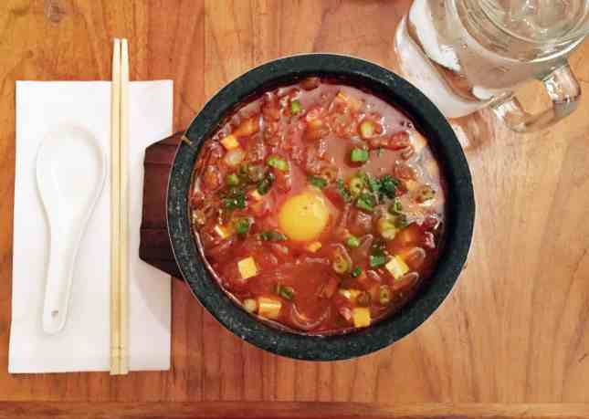 A comfortingly spicy Korean soup at Soupe et Cie, one of the Best Budget Restaurants in Quebec City // FoodNouveau.com
