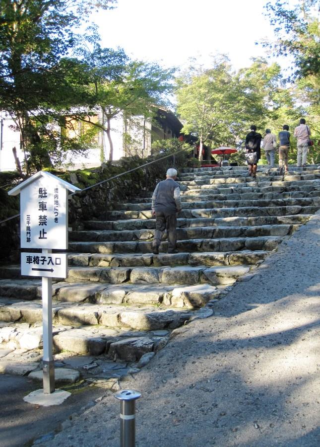Steps leading to Senzen-in Temple, Ohara, Japan // FoodNouveau.com
