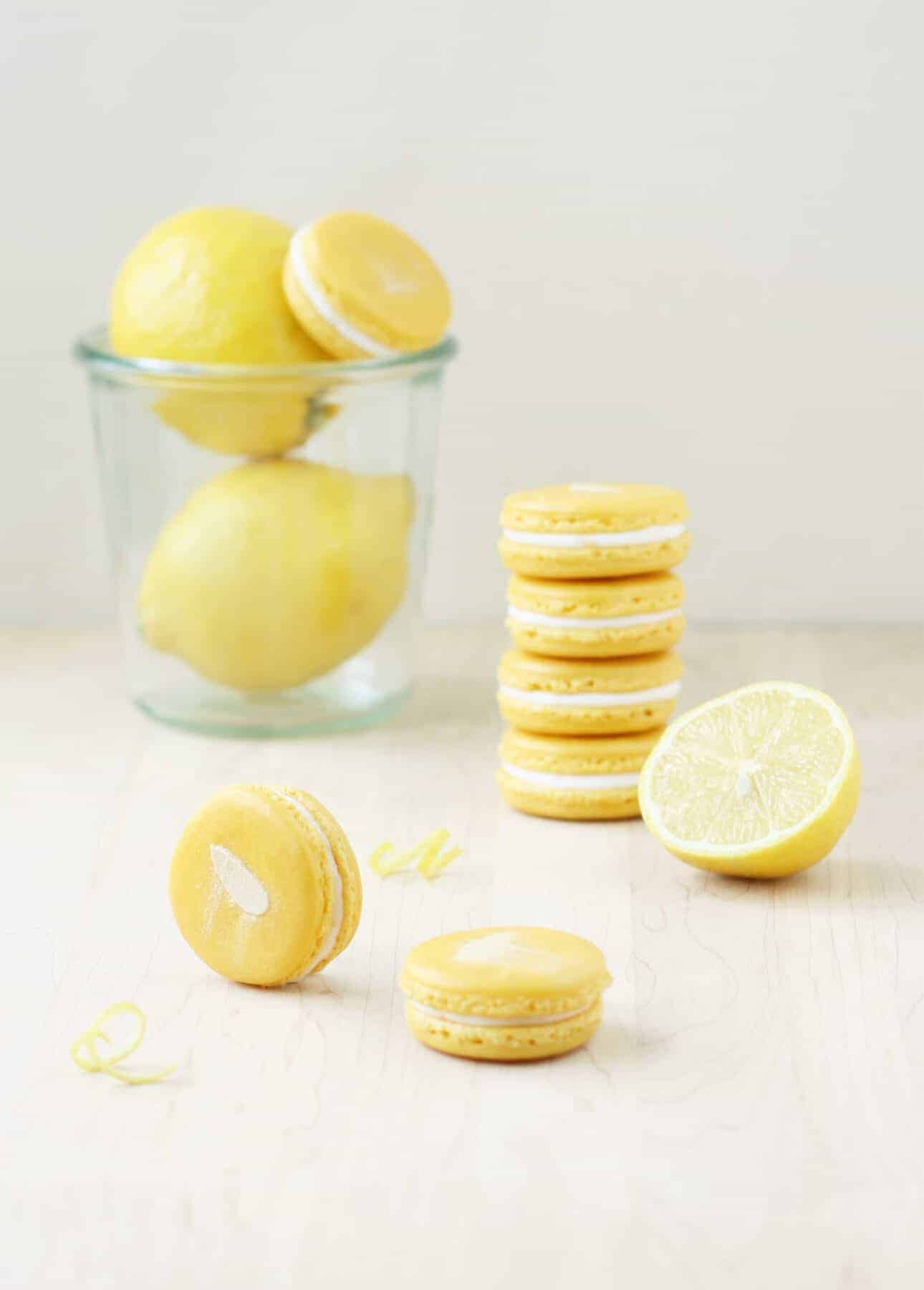 Lemon Mascarpone Macarons