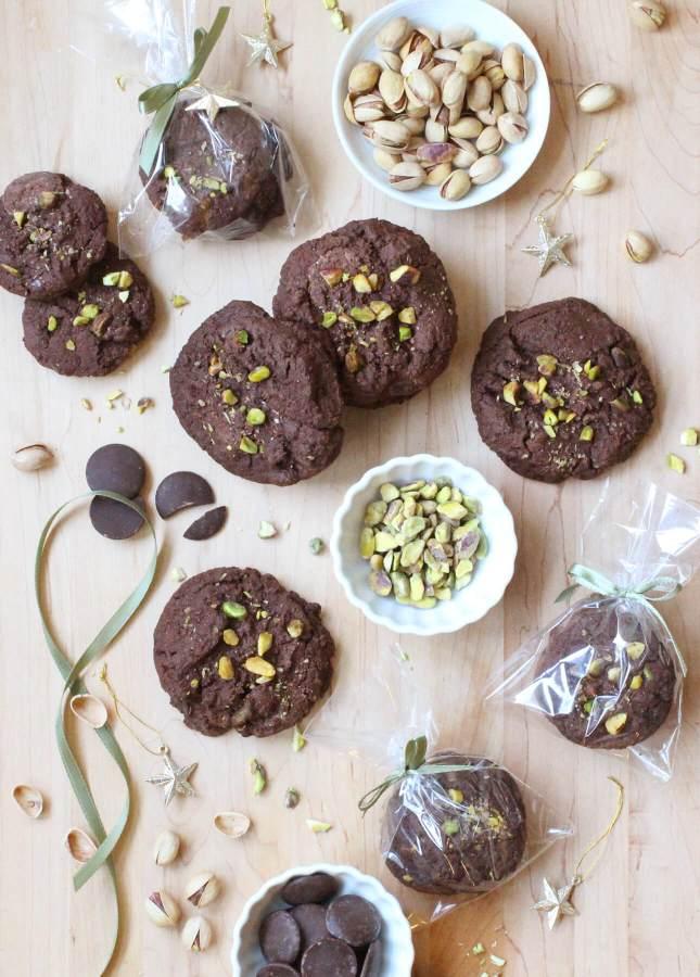 Triple Chocolate Pistachio Cookies // FoodNouveau.com