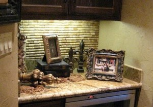 wine cork backsplash project DIY