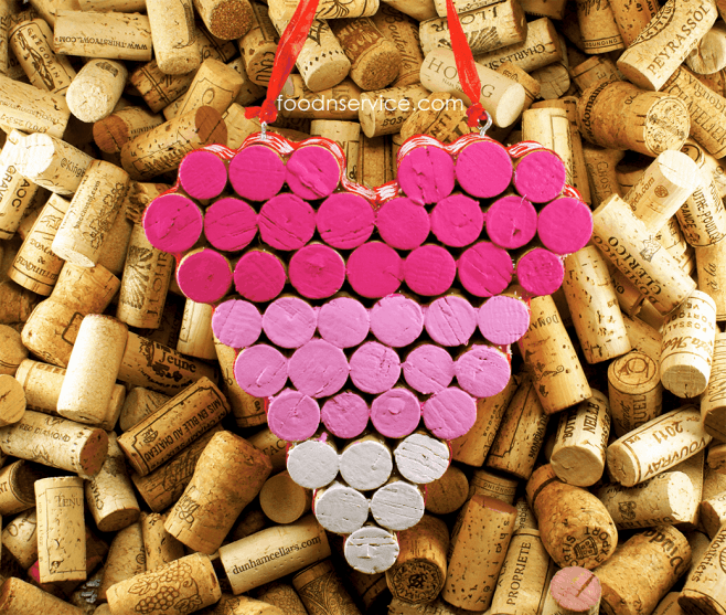 diy wine cork heart trivet