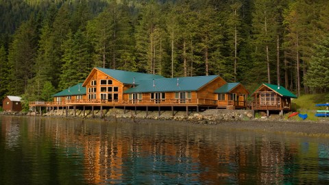 Steamboat Bay Fishing Club, a luxury sport fishing resort on Noyes Island, Alaska, opened in 2013 and offers some of the best sport fishing in the area. (Photo credit: Steamboat Bay Fishing Club.)