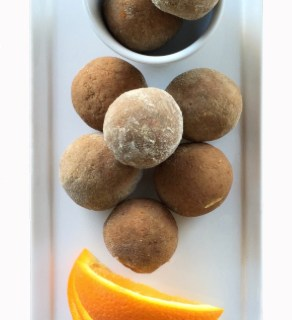 dreamsicle vanilla orange protein balls