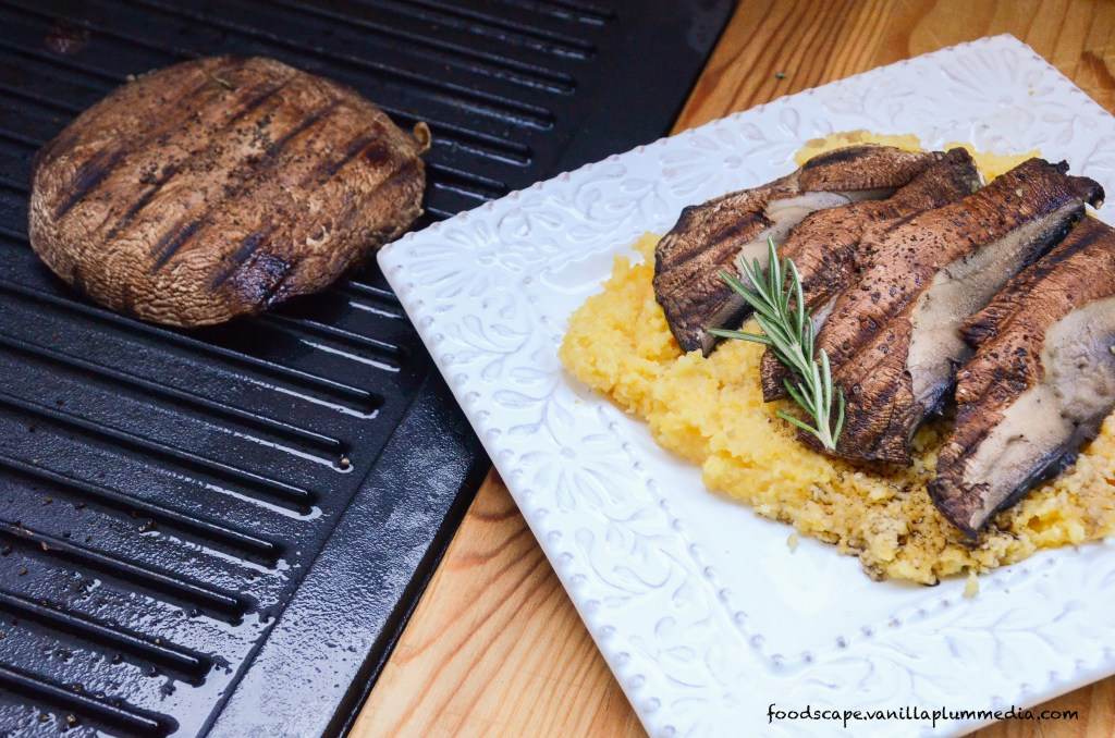 Portobello Mushroom Steaks with Cheesy Polenta