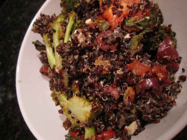 Quinoa for dinner | foodsciencenerd.com