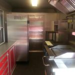 food trailer inside