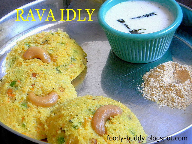 RAVA IDLY - BREAKFAST RECIPES