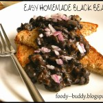 Toasted Bread Topped with Homemade Black Beans – Easy and Delicious