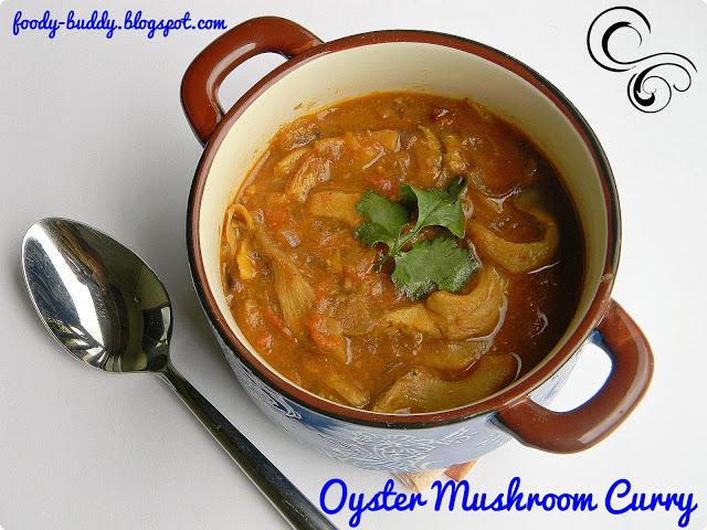 Sippy Kaalan Kurma / Oyster Mushroom Curry - Mushroom Recipes