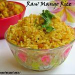 Mango Rice / Maangai Sadam / Raw Mango Masala Rice
