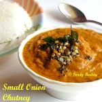 Small Onion Chutney / Chinna Vengaya Chutney Recipe For Idly Dosa