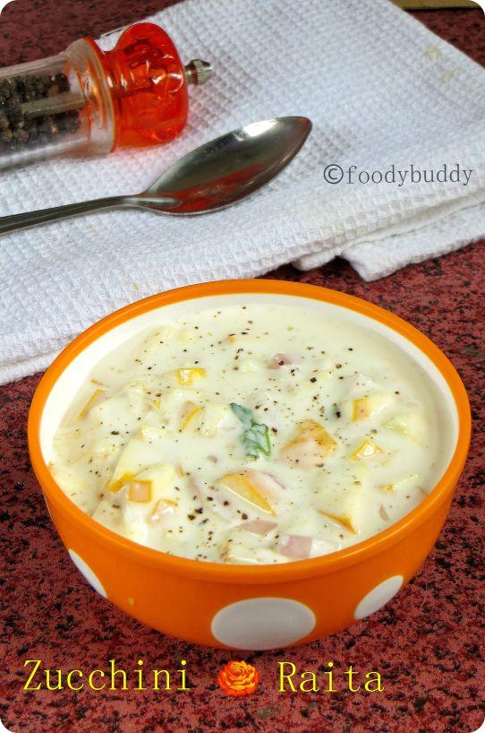 zucchini raita recipe