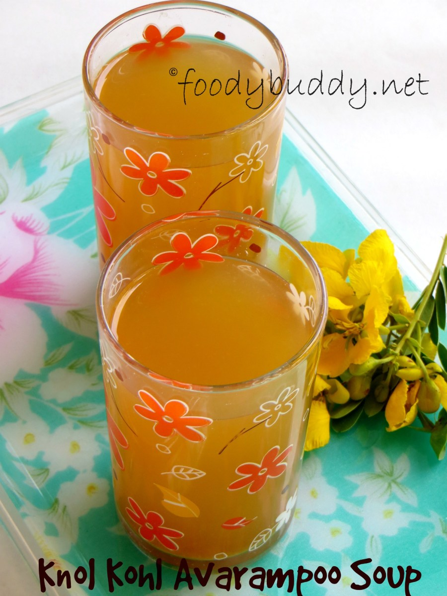 Knol Kohl Avarampoo Soup Recipe / Diabetes Control Soup