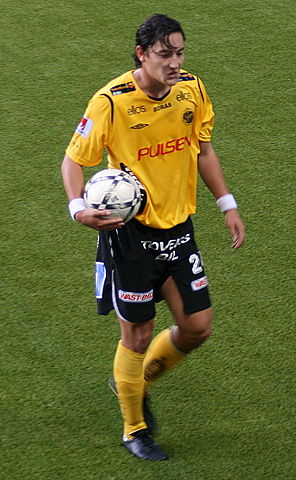 Stefan Ishizaki with a volley from inside his own half for IF Elfsborg