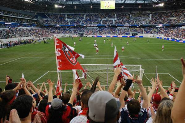 New York Red Bulls fans were told they would be ejected for swearing at New York City's Yankee Stadium